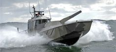 Finland's Patria NEMO 120mm mortar turret on Alutech Marine's Watercat M12 landing craft