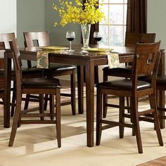 Watson Counter height Asian Hardwood Dining Table (36' x 52' x 52') (Oak Wood)