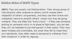 """Hidden Sides of MBTI Types: ENTJ - """"They are often the 'bully's bully' - if they see someone picking on someone who's in no place to fight back, you can bet they will not hesitate to put that person in their place."""""""