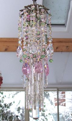 Secret Garden Antique Crystal Wind Chime by sheriscrystals on Etsy, $234.95