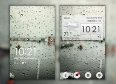 10 mobile ui water glass rain drops background desktop ui