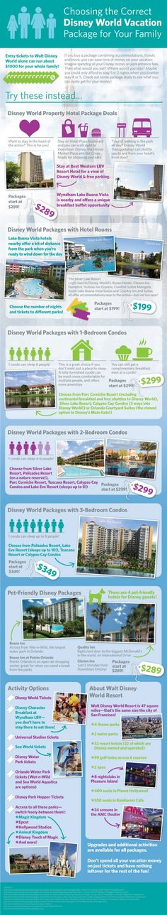 Choosing The Correct Disney World Vacation Package For Your Family [INFOGRAPHIC]