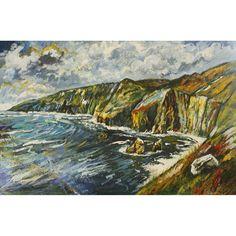 Irish art print of Slieve League cliffs, Co. Donegal by Ardara artist Stephen Bennett Irish Art, Donegal, Limited Edition Prints, Art Prints, Artist, Painting, Art Impressions, Artists, Painting Art