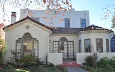 spanish-style home ... similar glidden paint colors: stratosphere and meadowlark
