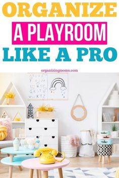 Realistic playroom organization ideas that are easy to implement and maintain. Simplify the organizing toys with these totally do-able tips. Toy Room Organization, Organisation Hacks, Kid Toy Storage, Playroom Organization, Storage Ideas, Playroom Ideas, Organizing Your Home, Organizing Toys, Organizing Ideas