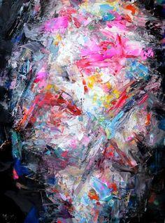 "Saatchi Art Artist Dejan Bozinovski; Painting, ""Abstract Portrait"" #art"