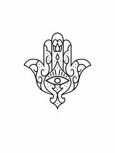 Hamsa third eye tattoo flash design by nico di pisarro