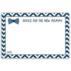Bowtie Baby Navy Advice Card