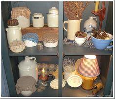 White stoneware crock collection