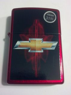 2014 New Design Chevy Logo Candy Apple Red Windproof Zippo Lighter #28636