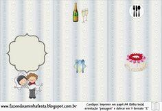 Provenzal en Divertida Pareja de Caricatura: Imprimibles Gratis para Fiestas.