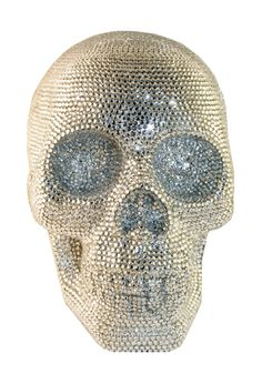 Swarovski Rhinestone Skull - LOve! I have a cheap knockoff in my living room.