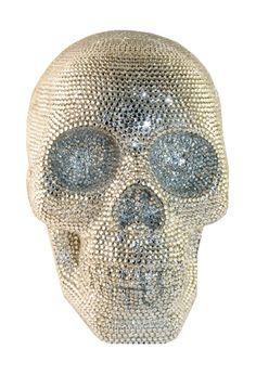 Swarovski Rhinestone Skull - LOve! I have a cheap knockoff in my living room.