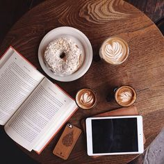 coffees and donut at Brooklyn Roasting Company / photo by Patrick Janelle