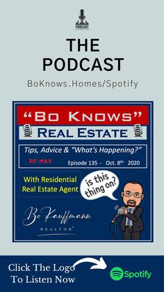 15 min Podcast about updating your home, mortgage tips, local and national real estate news.    Listen on spotify by clicking pin    🏡 👫 #HomeBuyers #DreamHome #FirstTimeBuyers #Buying #House #BoKnowsRealEstate #RealEstate ❤