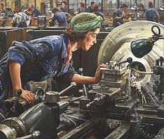 Laura Knight - Ruby Loftus screwing a breech