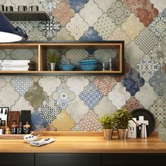 Try Riga patchwork tiles a great choice for patterned floor tiles in bathrooms or kitchens. See Direct Tile Warehouse - Sale now on Floor Patterns, Tile Patterns, Wall And Floor Tiles, Wall Tiles, Patchwork Tiles, Patchwork Kitchen, Tile Warehouse, Japanese Interior, Riga