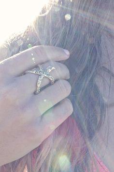 I WANT! New! Starfish Hug Ring - Shop Tone It Up