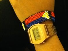 Casio Vintage Rose Gold Watch and Pilipinas beaded bracelet - simple arm candies