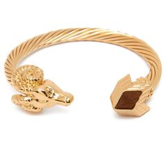 Aries Ram Head Bracelet by Melody Ehsani - Gold plated, bendable bracelet. Features ram head and 3d M.E. logo detail  //  Available for purchase here: http://rawinitiative.com/products/aries-ram-head-bracelet  //  #rawinitiative #melodyehsani #bracelets #womenaccessories #jewelry #womenfashion #accessories