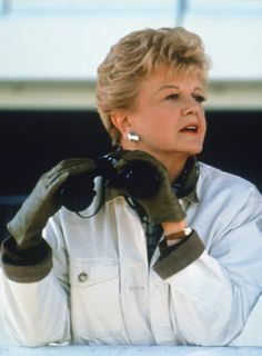 Who else wears buttery leather gloves that perfectly match the lining of her casual jacket? Still of Angela Lansbury in Murder, She Wrote (1984)