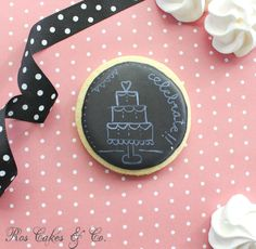 Chalkboard cookies by Ros Cakes & Co.
