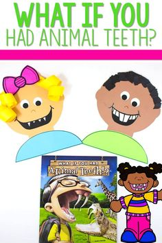 What If You Had Animal Teeth Activities and more! This classroom series of books also includes What If You Had Animal Ears, What If You Had Animal Hair, and What If You Had Animal Feet. Reading comprehension, reading response, and crafts! Anchor charts too! Printable activities for kindergarten and first grade.