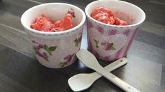 Eis-Rezept: Erdbeer-Minz-Sorbet vegan