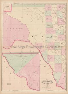 14 best Texas Old Maps images on Pinterest | Antique maps, Old cards ...