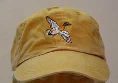 Mallard Duck Hat by Price Embroidery and Apparel Mississippi Mud, Duck Bird, How To Wash Hats, Blue Denim Shirt, Embroidery On Clothes, Embroidered Hats, Mallard, Cotton Twill Fabric, Dad Hats