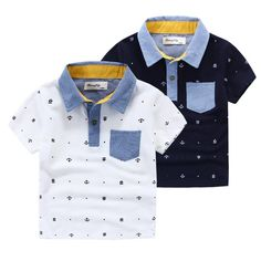 E Kids Boys Tees Embroidery Shirts Tops Multi Color Summer Blouse Cotton Shirts Fashion Cute Boys Clothing Wholesale Fashion Kids, Little Boy Fashion, Baby Boy Fashion, Fashion Dolls, Baby Boy Dress, Baby Boy Outfits, Kids Outfits, Mens Polo T Shirts, Boys T Shirts