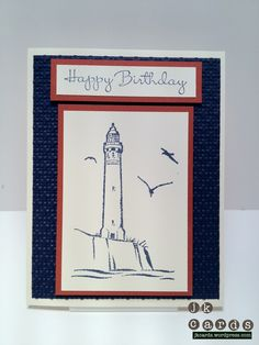 Stampin' Up!, Birthday, Uncharted Territory, Square Lattice Embossing Folder