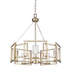 Golden Lighting's Marco 5 Light Chandelier #6068-5 WG