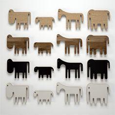 Wooden animals.