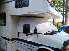 Our motorhome windshield cover is one of my favorite RV accessories. It offers the privacy that you need and fits really well. Motorhome Accessories, Rv Accessories, Rv Hacks, Camping Hacks, Rv Campers, Happy Campers, Windshield Cover, Bus Life, Rv Travel