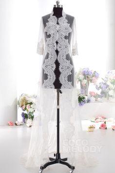Ivory 3/4 Sleeve Graceful Wedding Wrap AC4152