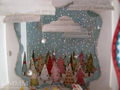 Mel Stampz: Diorama tutorial (whole lotta glitter goin on!) http://melstampz.blogspot.com/2009/11/diorama-tutorial-whole-lotta-glitter.html