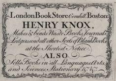 Henry Knox, Drug Dealer?