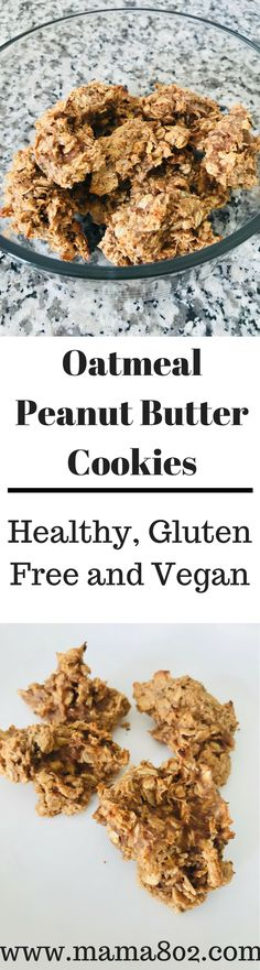 Who doesn't love Oatmeal Peanut Butter Cookies?! These cookies are simple, delicious, and healthy. These 4 ingredients are a staple in our household and it's because of these cookies. My family just loves these cookies! I have to make them often, like every week. It's a good thing the recipe is super easy! These cookies are vegan, gluten free, dairy free, and soy free. Hope you enjoy.