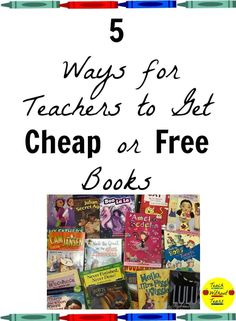 Teachers need hundreds of books for their classroom libraries. Here are 5 ways to get cheap or free books. Reading Assessment, Reading Tutoring, Teaching Reading, Guided Reading, Elementary Teacher, Elementary Schools, Upper Elementary, Teacher Blogs, Teacher Hacks
