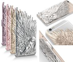 Luxury 3D Angel Wing Metal Hard Back Cover Emboss Case for Iphone 6 Plus 4.7/5.5 #COCO3C