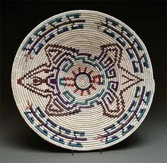 Coiled Pictorial Basket by Sally Black (Navajo)