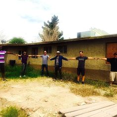 No new fence in the budget.. Amie and the Film Crew lending a helping hand! #FIippingVegas #TeamWork