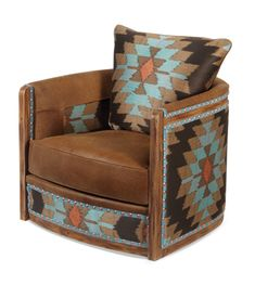 Southwestern Furniture-Old Hickory Furniture-Rustic Ranch Style Furniture I love this chair Old Hickory Furniture, Western Furniture, Rustic Furniture, Home Furniture, Furniture Stores, Southwestern Chairs, Southwestern Home Decor, Southwestern Decorating, Southwest Style