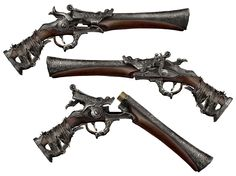 This is the starting Pistol from Bloodborne. The things I like about this Pistol is how the digitally rendered artwork also displays the 'Break-Action' function of the gun as-well as the Left-Right profile view of the gun