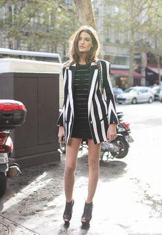 Allison Kadoche-- the French model in Balmain