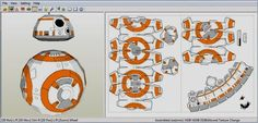 PAPERMAU: Star Wars - BB-8 Astromech Droid Paper Model - by Nathan Spencer