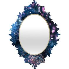 Lisa Argyropoulos Geode Abstract Teal Baroque Mirror | DENY Designs Home Accessories
