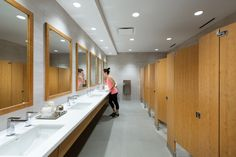 Lululemon Athletica Office by Gustavson Wylie Architects - Office Snapshots Washroom Design, Toilet Design, Bathroom Inspiration, Interior Design Inspiration, Visual Merchandising, Toilet Restaurant, Public Bathrooms, New Toilet, Spa