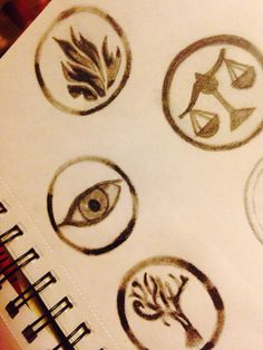 I drew these like last month but I thought I'd post them now! I can't seem to get Abnegation right though! :( But the rest are pretty good I think! Tell me what you think!